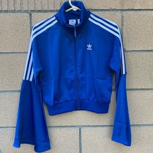 Adidas Satin Track Jacket w/ Bell Sleeves